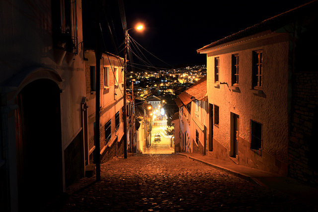 Sucre Street at Night