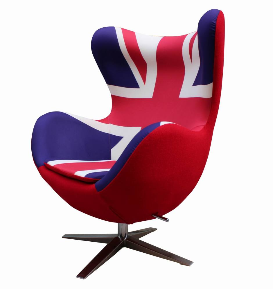 E066-Arne-Jacobsen-Egg-chair-Union-Jack-print-and-red-wool-fabric